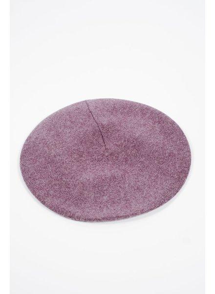 Hat Grey thin knit beret