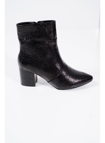 Distressed midi bootie