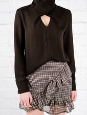 Blouse Front keyhole wrap blouse