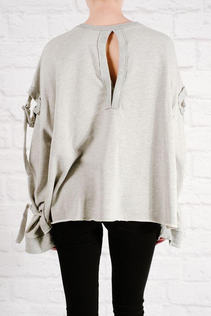 Sweatshirt Oversized pull tab sweatshirt