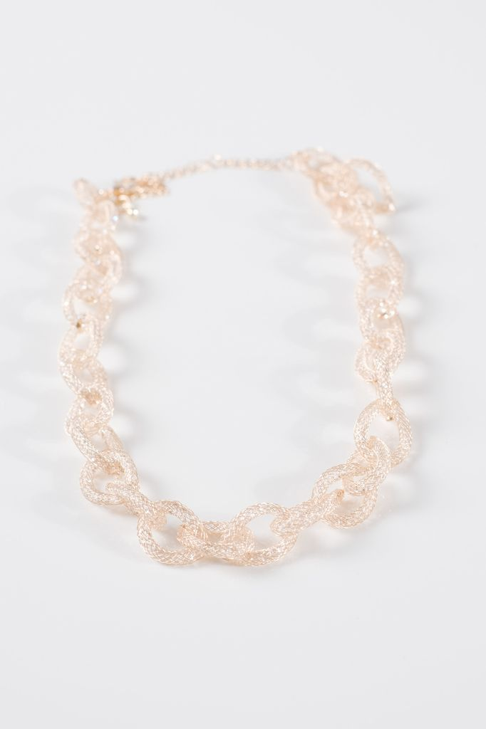 Dressy Gold mesh link necklace