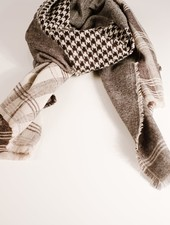 Scarf Houndstooth checkered scarf