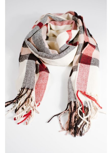 Scarf Camel oblong plaid scarf