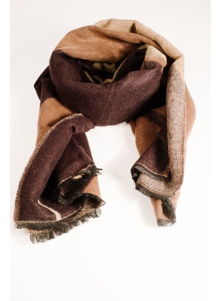 Scarf Black and brown colorblock scarf