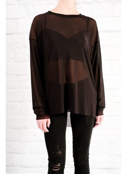 Blouse Black sheer mesh top