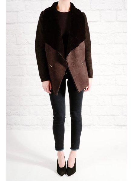 Lightweight Black open sweater jacket