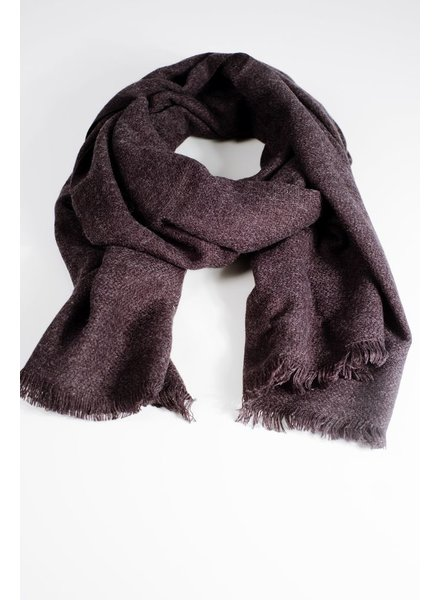 Scarf Charcoal woven thin scarf