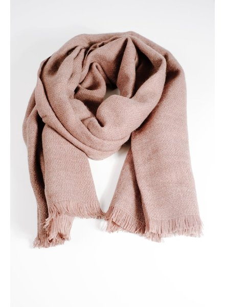 Scarf Brown woven thin scarf