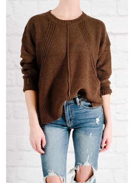 Sweater Olive side button knit