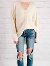 Sweater D-ring open back sweater