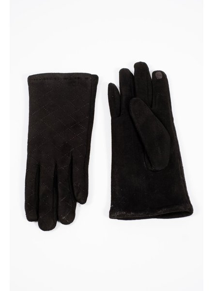 Gloves Black quilted smart-touch gloves