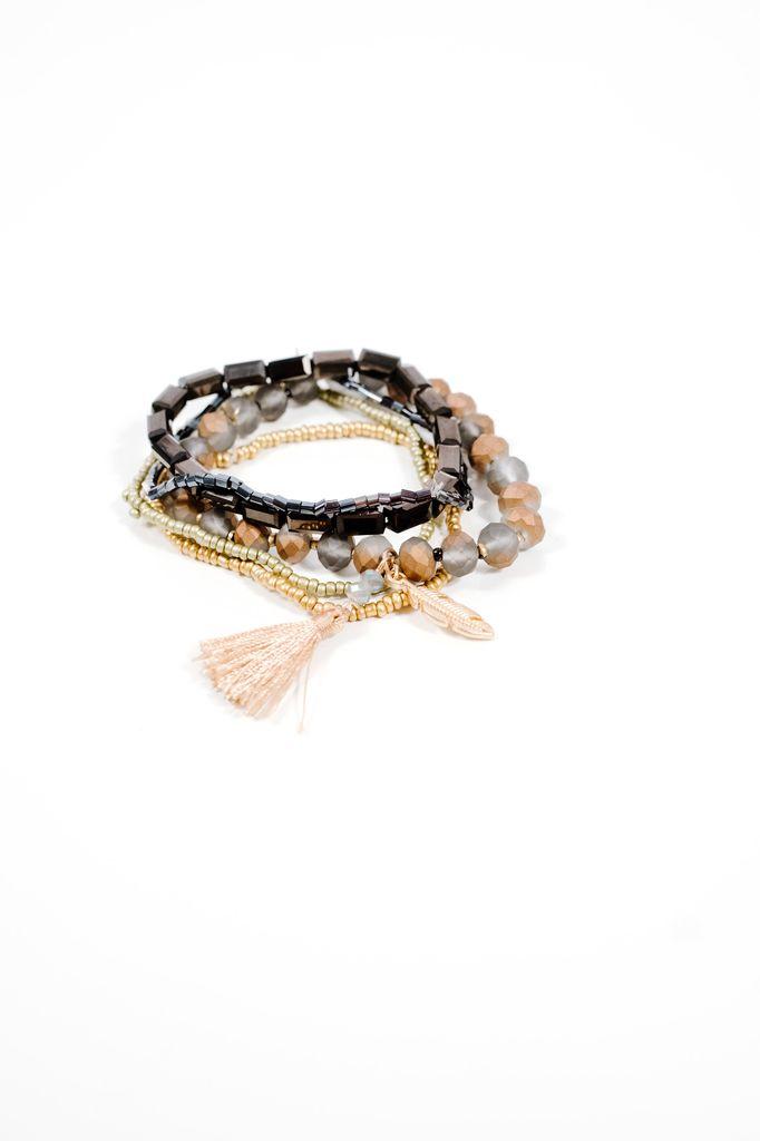 Trend Beaded multi strand bracelets