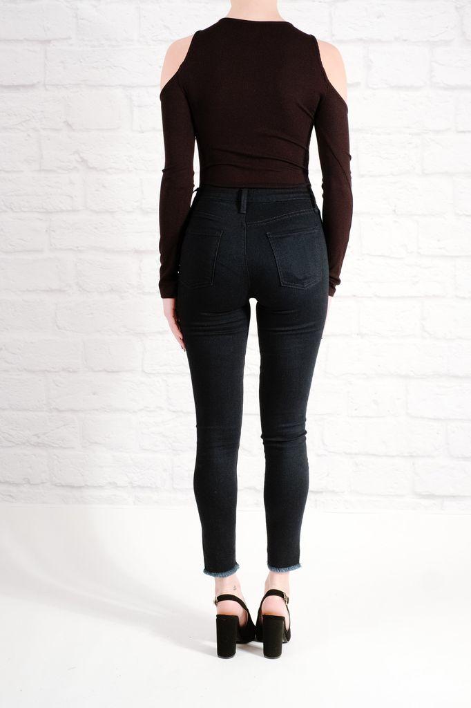 Bodysuit Black cold shoulder bodysuit