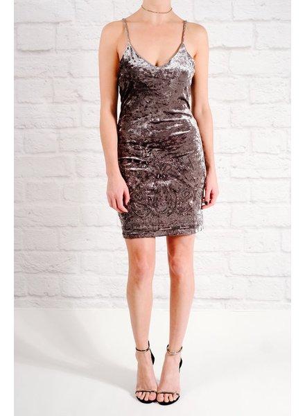 Dressy Sequin & velvet mini dress