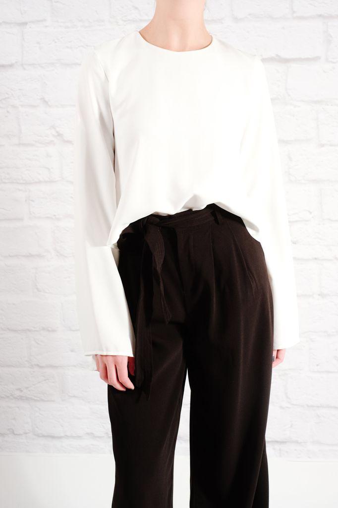 Blouse White bell sleeve blouse