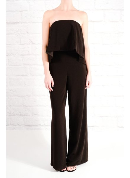 Jumpsuit Strapless wide leg jumpsuit