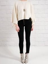 Sweater Ivory dolman cape sweater