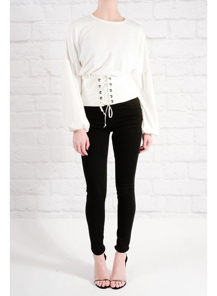 Sweatshirt Attached corset top