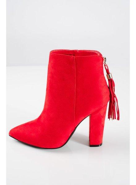 Bootie Red tassel booties