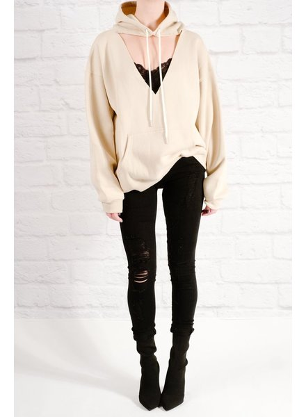 Sweatshirt Oversized cutout sweatshirt