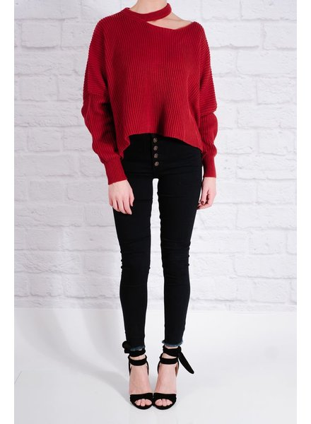 Sweater Chili slit shoulder knit