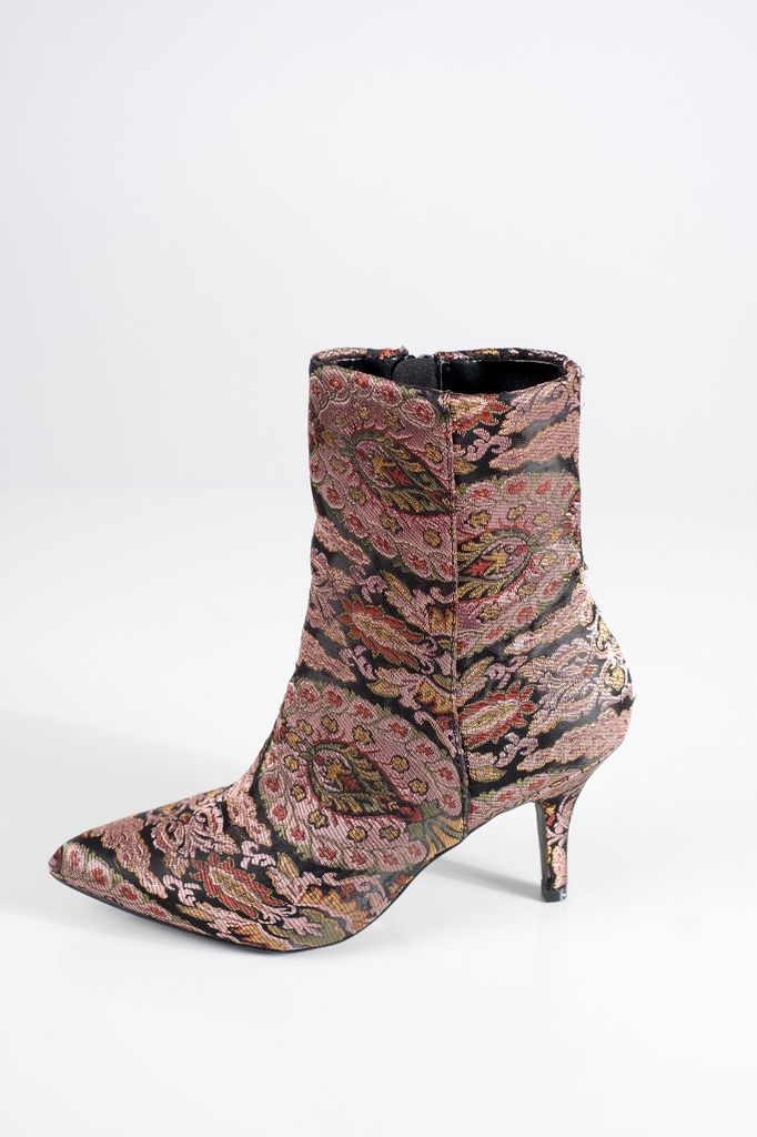 Bootie Metallic victorian ankle booties