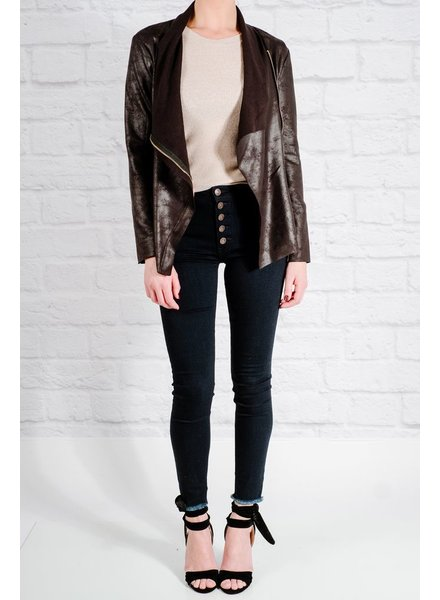 Lightweight Black blazer style leather