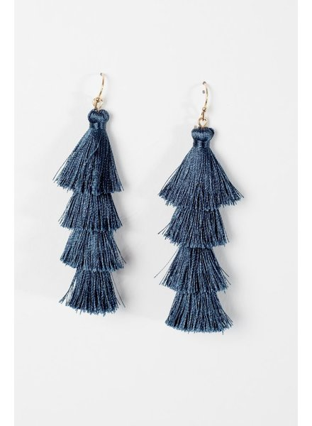 Trend Green tier tassel earrings
