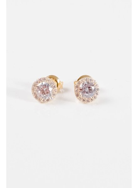 Stud Gold plated halo studs