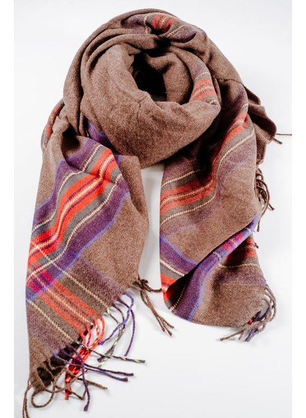 Scarf Plaid accent olive blanket scarf