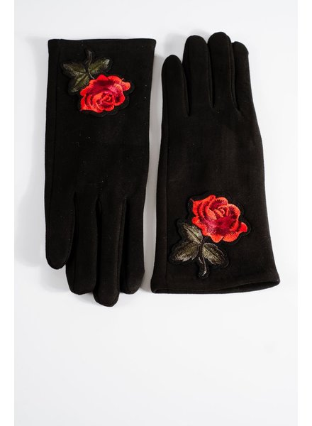 Gloves Rose embroidered gloves