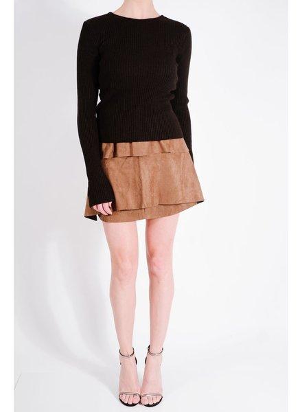 Skirt Camel multi layer mini