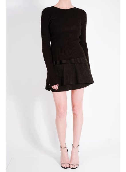 Skirt Black multi layer mini
