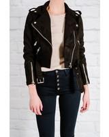 Leather Shurken suede moto jacket