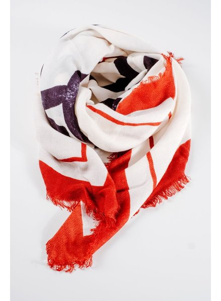 Scarf NY lettering print scarf
