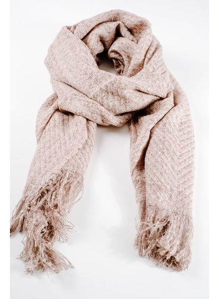 Scarf Neutral tweed long scarf
