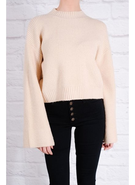Sweater Beige bell sleeve knit