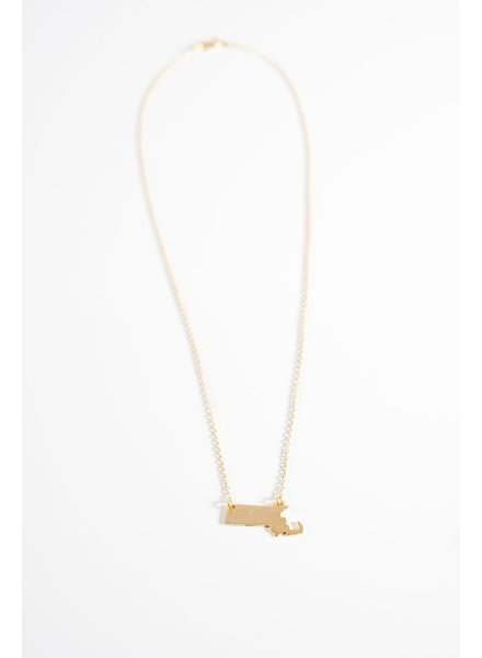 Gold Massachusetts goldtone necklace