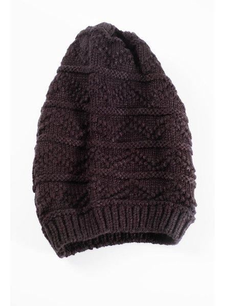 Hat Black textured slouchy hat