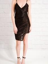 Dressy Floral velvet wrap style dress