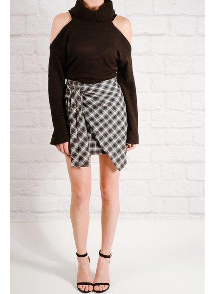 Skirt Plaid side tie skirt