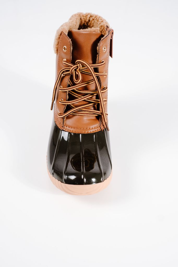 Boot Brown 2-tone duck boots