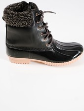 Boot Black on black duck boots