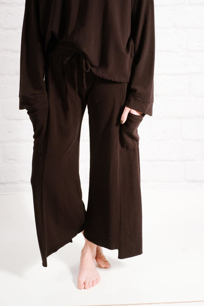Pants Raw cut terry culottes