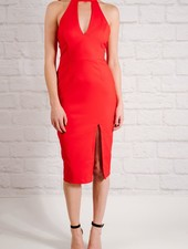 Dressy Red cut-out midi