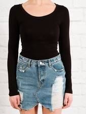 Skirt Distressed denim mini