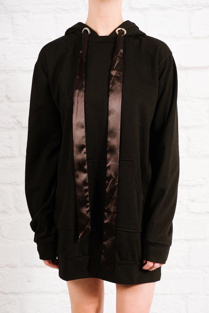Mini Hooded tunic sweatshirt