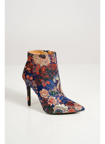Bootie Blue floral booties