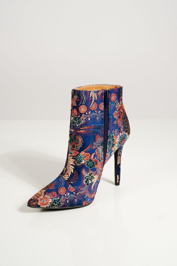 Bootie Blue floral booties