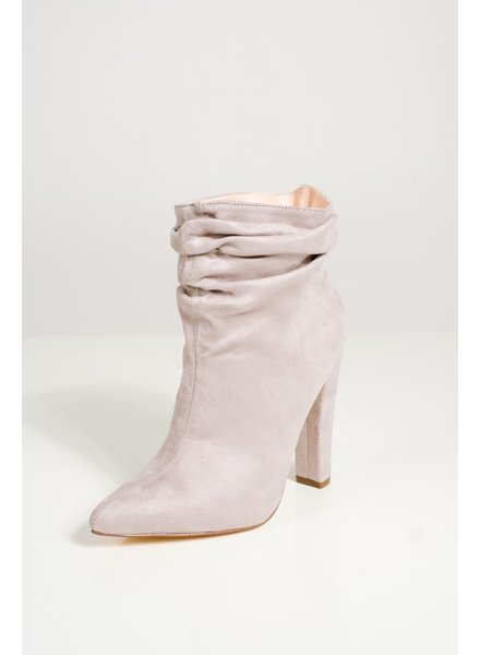 Bootie Soft grey scrunched booties